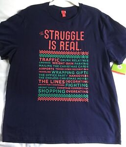 The Struggle is Real Christmas T-Shirt Men's Size XXL Blue Target ...