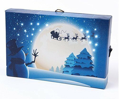the night before christmas light up fibre optic led canvaspicture 40 x 30cm ebay