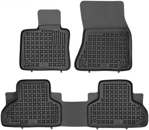 ab 2013 3-teilige schwarze Gummifußmatte für BMW X5 F15 Bj