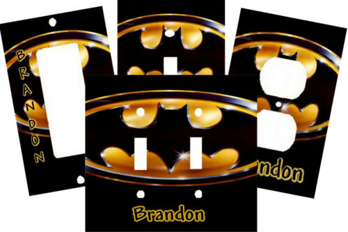 PERSONALIZED BATMAN LOGO SWITCH PLATE COVER