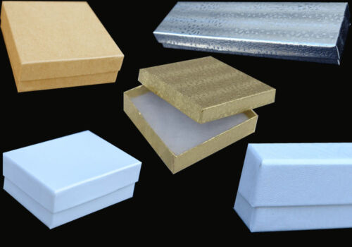 "100 PCS 2-1//2x1-1//2x7//8/"" White Krome #21 Jewelry Boxes Gift Favor Retail Display"