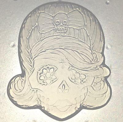 Flexible Resin Mold Medium Girl Sugar Skull Day Of The Dead Mould