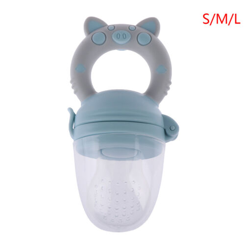 1Pc Teether silicone pacifier fruit feeder food nibbler feeder for baby VQETPOQ