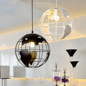 Image Is Loading World Globe Map Ceiling Light Modern Chandelier Pendant