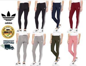 detailing super cute new lifestyle Details about adidas Originals Women's 3-Stripes Leggings Sports Pants  Black Gray XS S M L XL