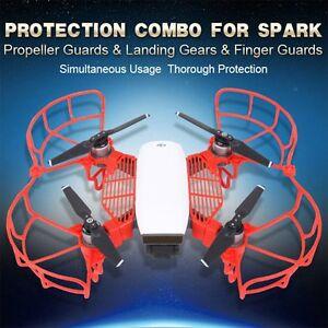 Propellers-Bumper-Finger-Guard-Landing-Gear-Combo-Kit-for-DJI-SPARK-Drone-RC-US