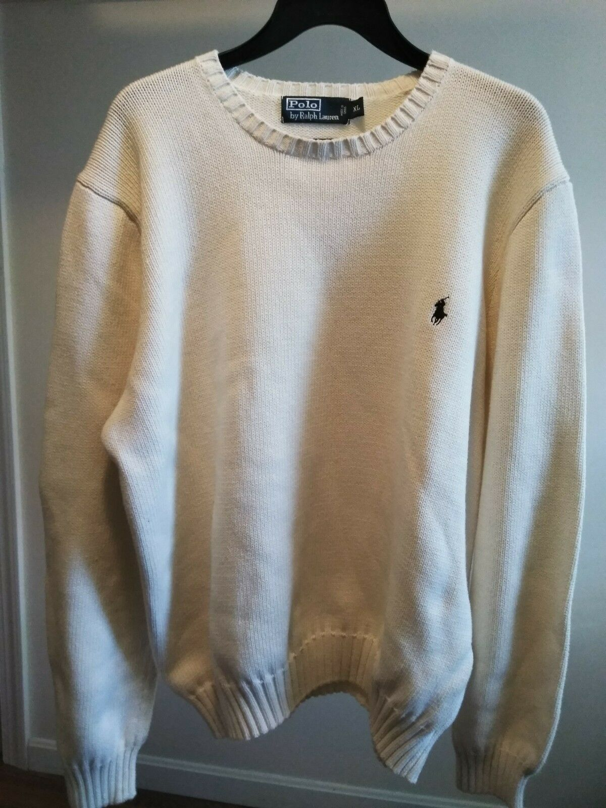 Polo sweater, xlg, tan new condition no defects