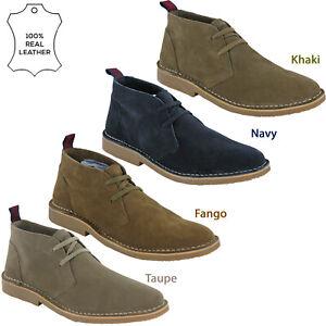 Lambretta Wallabee Classic Leather Shoes Mens Retro Flat Cushioned Soft UK 7-12