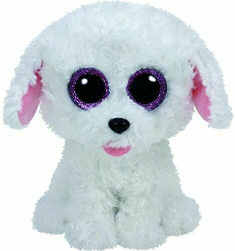 NEW MWMT Ty Beanie Boos ~ PIPPIE the White Dog 6 Inch