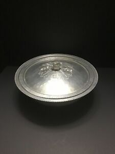 Vintage-Continental-Silver-Co-Inc-Brilliantone-Wild-Rose-Embossed-Candy-Dish