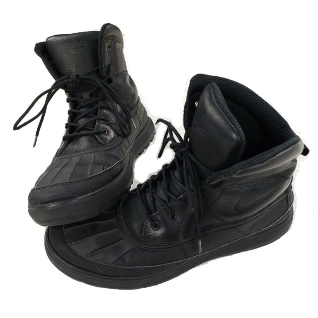 Nike Woodside 2 II ACG Triple Black Waterproof Duck Boots 525393-090 Size 13