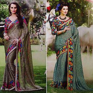 Indian Ethnic Pakistani Designer Bollywood Wedding Sari Party Wear Saree-NSR3179