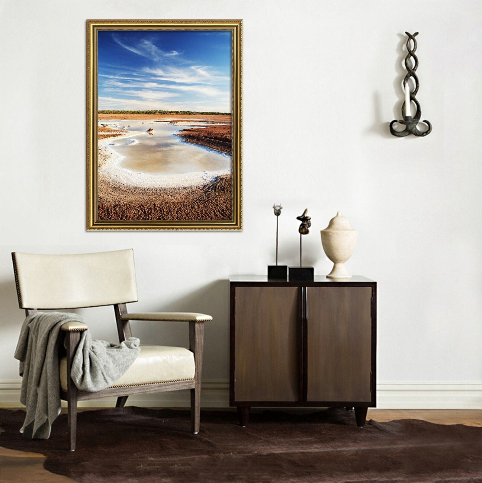 3D Beach Pit 69 Framed Poster Home Decor Print Painting Art AJ UK