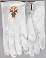 Knights Of Columbus 4th Degree Leather Embroidered Gloves