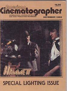 NOV-1982-AMERICAN-CINEMATOGRAPHER-movie-magazine-HAMMETT-LIGHTING