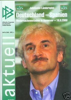 16.08.2000 DFB-Aktuell 6//2000 Deutschland Spanien