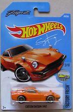 Hot Wheels Factory Fresh series CUSTOM DATSUN 240Z Fugu Z  orange