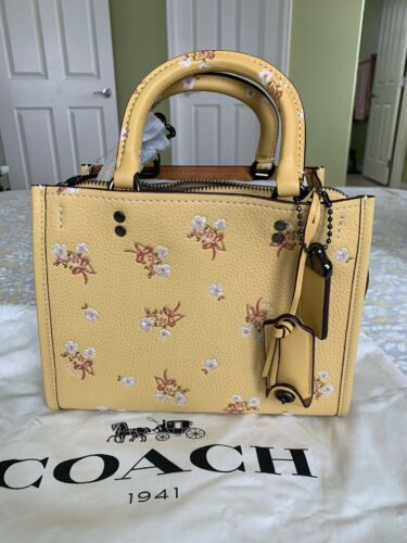 Yellow Floral Tote 1941 Nwt Sunflower Rogue Coach Bow 29216650 In 25 Handtas TPiuOXZk