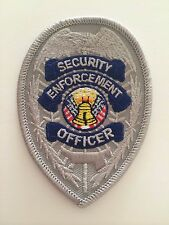 Security enforcement officer silver chest badge security guard patch