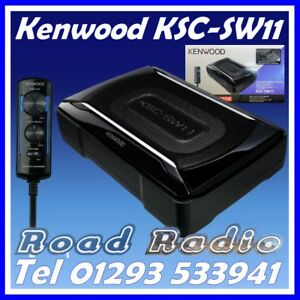 brand new kenwood ksc sw11 sub with built in amp includes. Black Bedroom Furniture Sets. Home Design Ideas