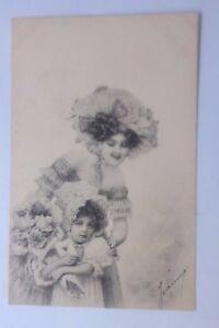 Pascua-Mujeres-Ninos-Moda-Flores-1902-Vienne-Munk-59016