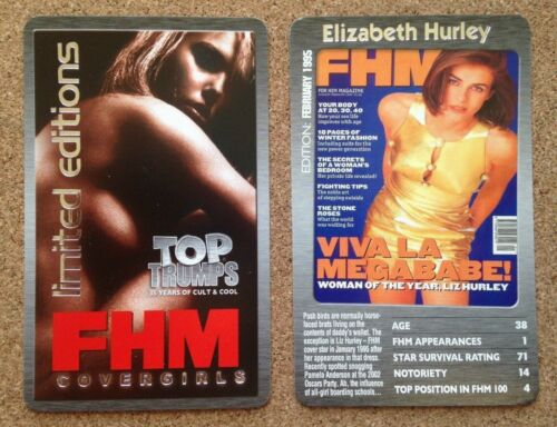 FB3 Top Trumps Single Cards FHM Magazine Cover Glamour Girl Models Various