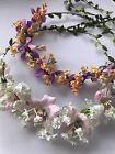 Women Flower Leaf Boho Party Wedding Beach Crown hair headband Garland Wreath