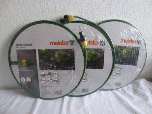 Meister Set 3 X  Sprühschlauch Gartenschlauch Bewässerungsschlauch  15m