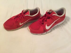 san francisco c4c77 aeaab Details about Men's Nike Free 5.0 Athletic Running Shoes Size 9.5 Red White  Trainer 511018-616