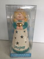 Waxcessories Heavenly Hugs Daughter Angel Ceramic Tea Light Holdernew In Box