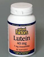 Lutein 40mg With 7mg Zeaxanthin 60 Softgels By Natural Factors Free Shipping