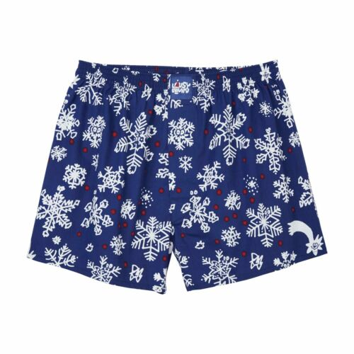 Lousy Livin Weihnachts-Boxershorts Snow Flakes night blue