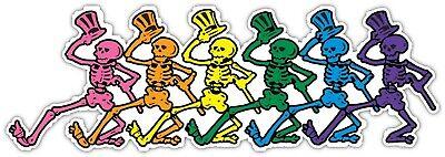Grateful Dead Dancing Skeleton Vinyl Sticker Decal Car Truck Laptop Window Sizes