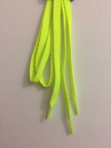 """Made in USA NEW 45/"""" Bright Yellow 10-Seconds Neon Athletic Shoe Laces Sneaker"""