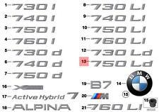 Genuine BMW F02N Sedan Trunk Lid 750Ld Emblem Badge Logo Sign OEM 51147315513