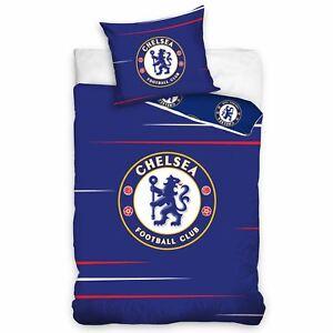 Chelsea-FC-Bleu-Set-Housse-de-Couette-Simple-Europeen-Taille-100-Coton-2-IN-1