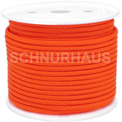 6mm PP 500daN Reepschnur 50m orange PP-Seil Tauwerk Schot Schnur wie Paracord