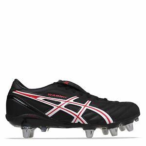 ASICS le GUERRA stivali da rugby uomo Gents lacci con chiusura a collare imbottito per Caviglia Borchie