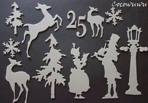 Winter-Christmas-Festive-Chipboard-Die-cuts-U-CHOOSE-Scrapbooking-Embellishment