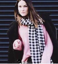 Zara Black & Ecru Check Soft Large Scarf BNWT