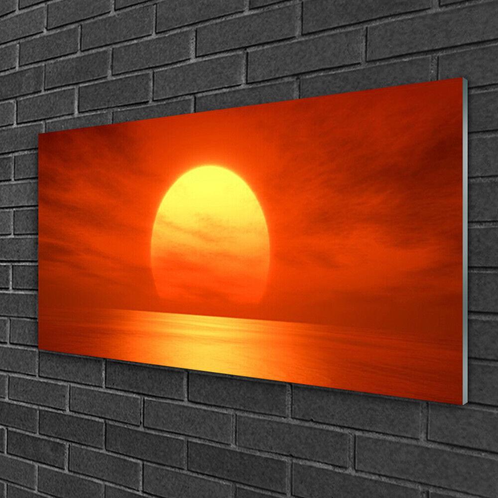 Tableau sur verre Image Impression 100x50 Paysage Soleil