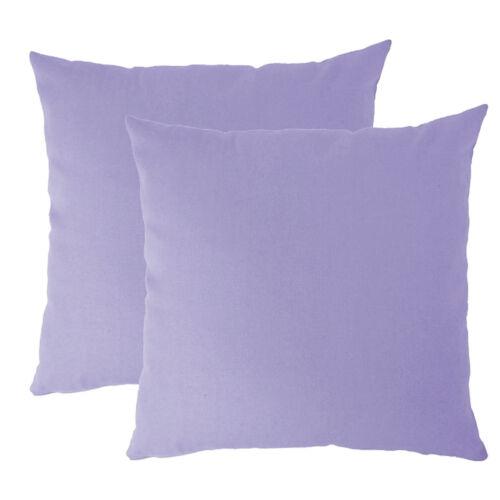20 Colors PICK YOUR COLOR New 2 x EUROPEAN Pillowcases 66 x 66cm