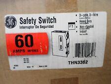 Model 10 60 Amp 600 Volt 3 PHASE Disconnect GE THN3362
