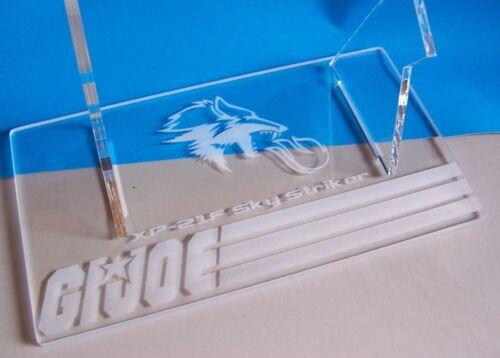 Acrylique Présentoir Pour Gi Joe SKYSTRIKER en vol incliné MODE /& options