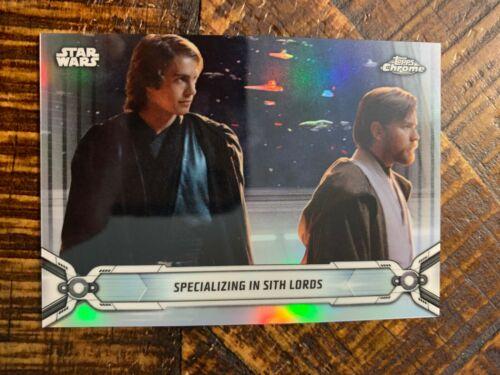 2019 Topps Star Wars Chrome Legacy Refractor Base Card #54