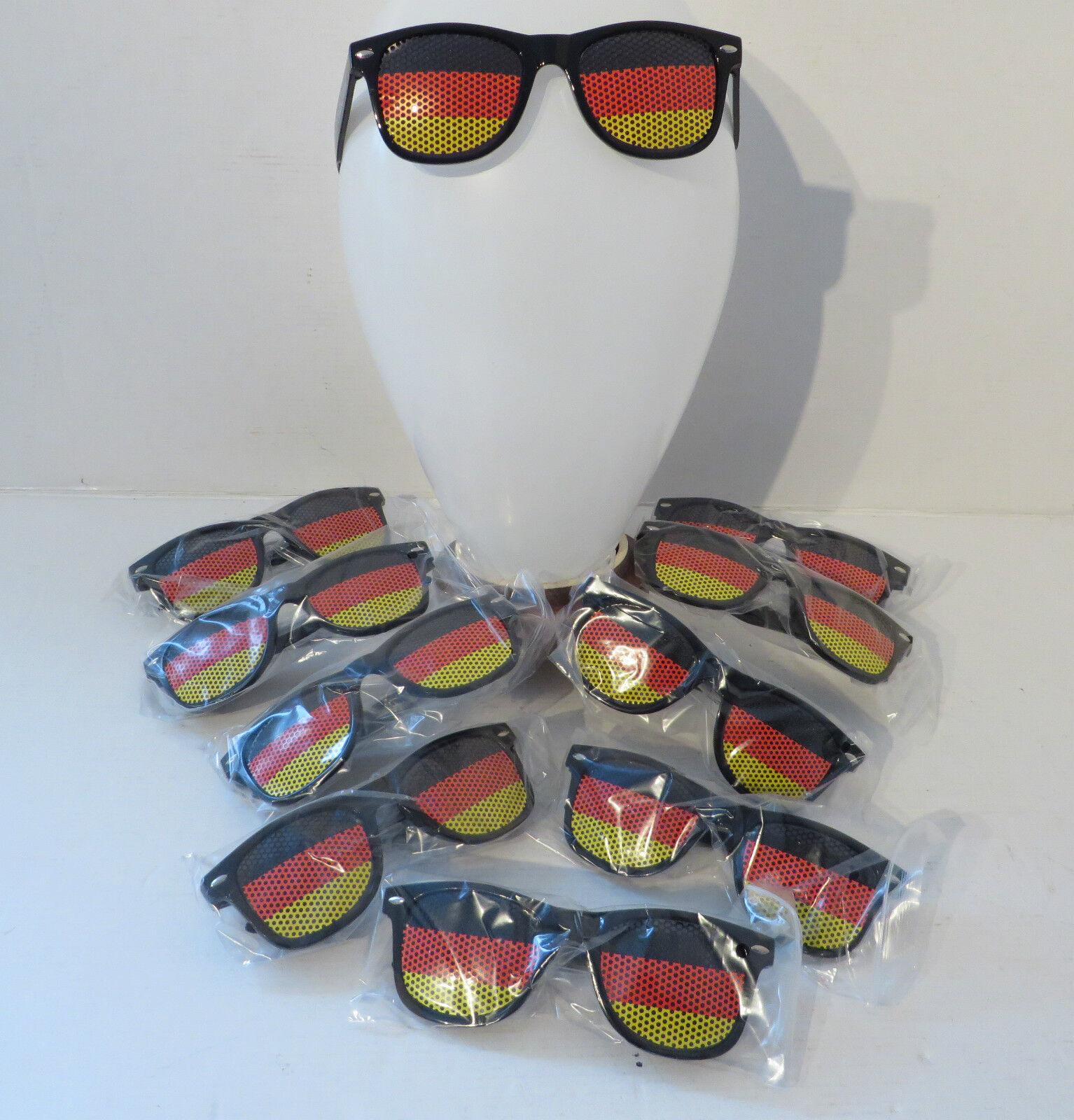 SONDERPREIS ° 10 Stk Sport Sport Sport Fanbrille DEUTSCHLAND SONNENBRILLE Brille Fussball WM  | Angenehmes Aussehen  dac551