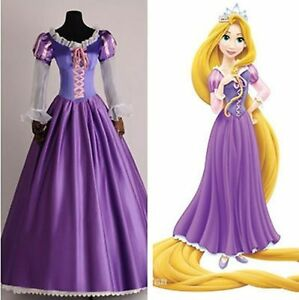 Image is loading Adult-Rapunzel-Outfit-Fancy-Dress-Cosplay-Costume-Princess- & Adult Rapunzel Outfit Fancy Dress Cosplay Costume Princess Fairytale ...