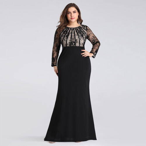 Ever-Pretty US Sequins Long Sleeve Homecoming Prom Gown Evening Party Dress 7771