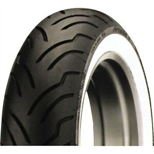 Dunlop American Elite Wide White Wall Motorcycle Tire 180