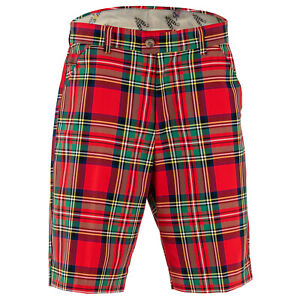 Stewart-Tartan-Golf-Shorts-by-Royal-and-Awesome-Funky-amp-Loud-Waist-Size-30-44
